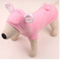 Wholesale Dog Clothes Pig - 2015 New Witner Pet Clothes Pig Pattern Cosplay Coat Pink Cute Small Doggies Puppy Teacup Dog Clothing Cheap Branded Supplies XS