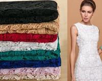 içi boş dantel kumaş toptan satış-2019 Düğün Dantel Elbise Kumaş Yüksek Kalite Gelinlik Kumaş Nakış Hollow Su Dantel Apperal Giyim Resmi Vestidos De Fiesta