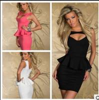 robe de femme sexy achat en gros de-blanc noir rose Polyester Fibre lingerie sexy, taille M L XXL Femmes aucune Manches Mini robe, smoking