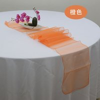 Chaude Chemin de Table de Mariage 100 pcs Orange Chemin de Table 12