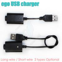 siyah ego mini toptan satış-Ecig ego usb şarj siyah uzun kısa ego ego için 2 türleri t ego c evod vizyon spinner 2 mini tesla ESAM-T Pil USB şarj