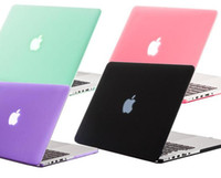 Wholesale Macbook Air Hard Shell Case - Matte Crystal Rubberized Frosted Hard Plastic Case Cover Laptop Shell For Apple Macbook Air 11 Pro 13 12 with Retina