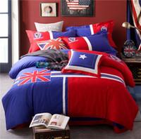 kız çocuklar için yorganlar takımlar toptan satış-Saf pamuk yastık ile 4 parça sevimli çocuk yatak seti çarşaf çarşaf nevresim oğlan kız çocuk yatak