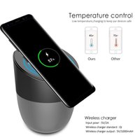 Wholesale Small High Speakers - wireless charger bluetooth speaker subwoofers built-in high quality 2500mAh battery small but stylish best phone holder bet charge 2