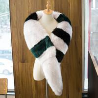 Wholesale Fox Patchwork Scarf - 2017 womens winter fashion fox fur scarves ladies scarf foulard mujer hiver faux col detachable fake collar echarpe femme