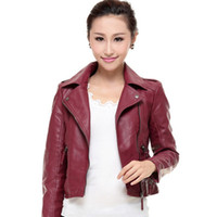 Wholesale Type Fur Coats - Free shipping top fashion Autumn Winter New Korean Lady Pu Leather coat Short type Slim Small Leather jacket Coat S-3XL