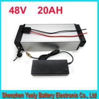 Wholesale Battery Ebike - free shipping 48V 1000W Electric bike battery Lithium ebike  luggage battery 48V 20Ah with BMS,54.6V 2A charger