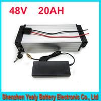 ingrosso batteria 48v-Spedizione gratuita 48 V 1000 W batteria bici elettrica batteria al litio ebike / bagaglio 48 V 20Ah con BMS, caricatore 54.6 V 2A