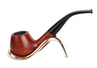 ingrosso tubi in mogano-Portafiltro estraibile Gongtan Waxing Mogano Retro Smoking Pipes