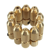 Wholesale Electric Micro Drill - 2.3mm Brass Electric Motor Shaft Clamp Fixture Chuck Mini Small For 0.7mm-3.2mm Drill Micro Drill Bit Clamp Fixture Chuck