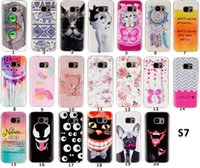 Slim Soft TPU IMD IMD Para Samsung Galaxy S7 A510 2016 A5 Flor Cartoon Owl Elefante Gato Candy Bear Wolf Eye Wave Dreamcatcher Pele Luxo