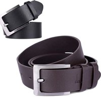 Wholesale Prong Belt - New Mens Accessory Leather Single Prong Belt Business Casual Metal Buckle Dave