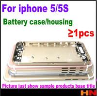 boîtier de batterie iphone 5s achat en gros de-1pcs de haute qualité couvercle du boîtier pour iPhone 5S en aluminium en métal Retour Case logement batterie couvercle de la porte de remplacement pour iPhone 5 print IMEI