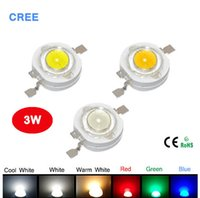 Real Full 3W watt High Power LED lamp Beads 220-240LM CREE SMD Chip LEDs Diodes Bulb для 3W - 18W Spot light Downlight