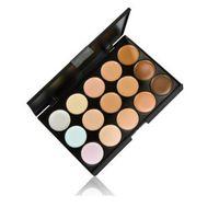 Wholesale Skin Whitening Kits - Hot New 15 Colors Beauty Pro Face Cream Makeup Concealer Contour Palette Kits M293