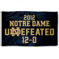 Wholesale 12 houses online - Notre Dame Undefeated Country banner flag Custom Football Hockey Baseball any Team House Divided Flag