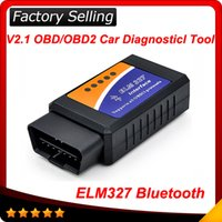 Wholesale Factory Bus - 2016 Factory price OBDII obd 2 OBD II V2.1 CAN-BUS Diagnostic Interface ELM327 Bluetooth Elm 327 20pcs lot free shipping