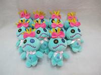 Wholesale Stitch Dolls - Free Shipping 10 Pcs Lot Cartoon Stitch Scrump 12cm Plush Toy Doll with Hook Soft Stuffed Doll