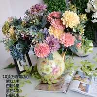 Wholesale marigold flower for sale - Group buy High Grade Oil Painting Artificial Marigold Flower Home Display Fake Flowers Heads for one Bouquet For Holiday Wedding Decorations