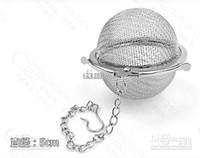 Wholesale Tea Balls Infusers - Stainless Steel Tea Pot Infuser Sphere Mesh Tea Strainer filler Ball 5cm Tea Infuser