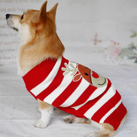 Wholesale New Design Christmas Dog Clothing - Christmas Sweater Pet Clothes Xmas Reindeer Pattern Design Puppy Pet Dog Cat Scarf Coat Large Small Size