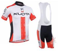 pantalones cortos de ciclismo kuota al por mayor-Equipo 2013 del kuota que completa un ciclo Jersey / desgaste de ciclo / ropa de ciclo y babero suit-kuota-1A del babero de los cortocircuitos Envío libre