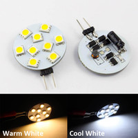 ingrosso led luci g4 dimmable 12v-10pcs / lot 3W dimmerabile g4 12V Home Car RV Marine Boat LED luci lampadine con 9pcs SMD5050