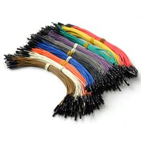 Wholesale Dupont Cable For Arduino - 40pin 20cm male to male Dupont cable Wire Color Jumper Cable For Arduino T1369 W0.5