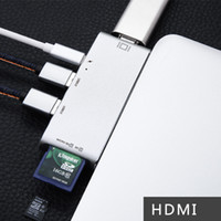 Wholesale China Output - Aluminum 3.0 USB HDMI HUB Adapters with 3.1 Type-C Charging Port 4K HDMI Output 6 Ports Type-C SD TF Card Reader
