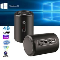 Wholesale Intel Box - intel box windows 10 Z3735F Quar Core with 2.4G 5G wifi bluetooth 4.0 2GB 32GB memory 1.8GHZ smart TV box with 2.0MP camera windows system