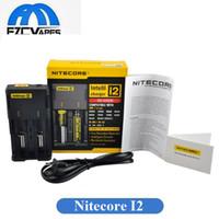 cargadores de bateria al por mayor-El cargador universal Nitecore I2 más vendido para 16340/18650/14500/26650 batería EE. UU. UE AU Reino Unido Enchufe 2 en 1 Intellicharger Cargador de batería