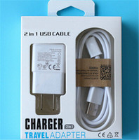 Wholesale Empty Setting - Samsung galaxy note 3 note 4 Empty Retail Box Packaging for wall charger + cable cord 2 in 1 set box 100pcs lot.