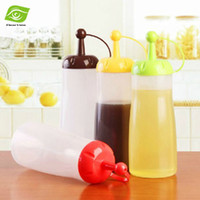 Wholesale 3pcs Hot Sell Kitchen Supplies Leak Proof Seal Food Grade Plastic Oil Bottle Cruet Vinegar Sauce Bottle Pot Ketchup Bottles dandys