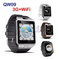 3G WIFI QW09 Android Smart Watch 512 Mo / 4 Go Bluetooth 4.0 réel-podomètre carte SIM appel anti-perte Smartwatch téléphone montre-bracelet PK DZ09 GT08
