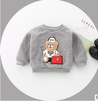Baby Kinder Pullover Kleinkind Kinder Cartoon gedruckt Fleece Pullover Kinder Langarm Kaschmir verdicken warme Sweatshirts Kinder Tops G1660