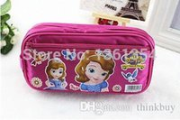 Wholesale Princess Sofia Fabric - New 12 Pcs Sofia The First Pencil Case with Stationery Bags Princess Pen Bag bags Cases for Children Kids School Supplies 0501#