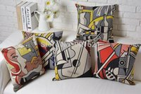 Wholesale novelty Pop Art Roy Lichtenstein Painting pattern Cushion Cover throw pillow Case