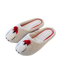 Wholesale guest flip flops - Cotton Cute Slippers Women Penguin Animal Home Slippers Indoor Shoes Bedroom House Adult Guest Warm Winter Soft Flats Ladies