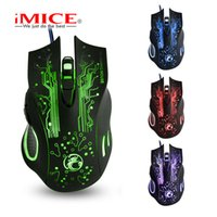 Wholesale Games Manufacturers - iMICE Brand USB mouse manufacturers wholesale X9 game optical mouse Colorful gaming LOL gaming mouse