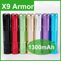 Wholesale Voltage Regulator Adjustable - X9 Armor 1300mAh Button Battery Variable Voltage E-Cigarettes Aerotank Atomizer X9 Armor Voltage Regulator Button Battery DHL free shipping