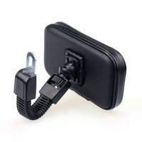 rückspiegel gps halterungen großhandel-Fahrrad-wasserdichte Tasche mit Motorrad-Rückspiegel-Berg-Halter-Stand-Unterstützung GPS für iphone 7/7 plus / 8 Smartphone