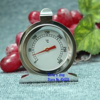 Wholesale Stainless Steel Thermometer Kitchen - Wholesale-Stainless steel oven thermometer kitchen oven thermometer Kitchen Bakeware Tool Directly into the oven Temperature Instruments