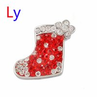 Wholesale Socks Wholesale China - Noosa 18mm Interchangeable Jewelry Fashion Sock Custom Snap Button Snap Jewelry Christmas series Free shipping AC145