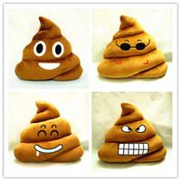 poop emoji kissen großhandel-Kissen Emoji Kissen Geschenk Cute Shits Poop gefüllt Spielzeug Puppe Weihnachtsgeschenk Lustige Plüsch Kissen Cojines Kissen Kissen Sofa Kissen 30CM