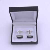 Wholesale Top Selling Gift Boxes - Top Grade Black Black Velvet Plastic Cufflink Box Jewelry Boxes Best gift box for Cufflinks Hot Selling