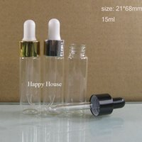 Wholesale Glasses 2oz - Free Shipping - 24x 15ml Mini Clear Glass Dropper Bottle, 15cc Transparent PIpette Dropper Vial,1 2oz Glass Sample Container,