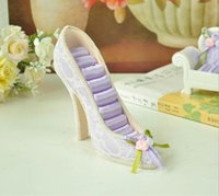 Wholesale High Heeled Shoe Ring Display - High Heel Shoe Ring Stud Displays Holder Organizer Resin Crafts charms Gift cheap 2014 new countryside style Jewelry Rack(170086)