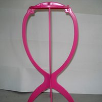 Wholesale Head Hat Stand - Plastic Folding Stable Durable Wig Hair Hat Cap Holder Stand Holder Display Tool Wig Stand Head