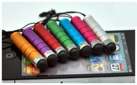 Wholesale Cases For Pens - 2015 Real New Phone Cases Mini Stylus Touch Screen Pen with Anti-dust Plug for Ipad for Iphone for Samsung Hcapacitance Tablet Pc 12 Colors