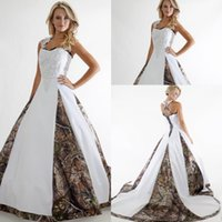 Wholesale Halter Ball Wedding Dresses - Vintage A-Line Applique Lace Camo Wedding Dresses 2016 Custom Backless Plus Size Formal Bridal Gown New Hot Sale Vestidos De Novia Princesa